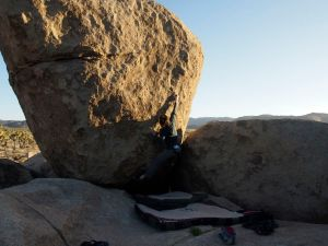 Jill is on Mojave Green, v5, having just done the first move