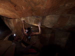 lighting this beast was difficult because of so many smaller boulders close to the wall...