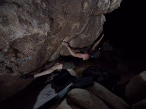 the end of the crux... a very clean line