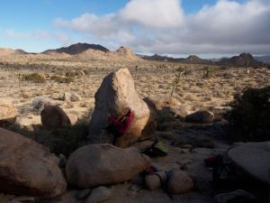 this boulder faces away from the roads with Miledi to the right, out of image