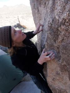close up of the holds, I called this One Up, v2 or 3...