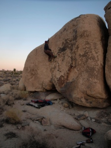 Ear to the Grindstone, V3. topout is crux. and a little grain to keep you focused