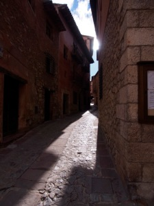 The city's many side streets and alleys, as they wind their way up the terraced town center.