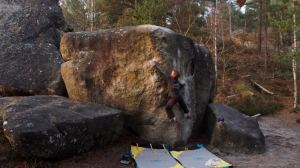 At sunset, we finished with Clin d'Œil, 6c+/7a. Jill had to send on another day.