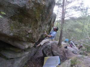 This is the crux throw to a sloper.