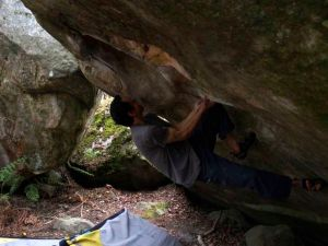 Little Cobra, 7a+. The start.