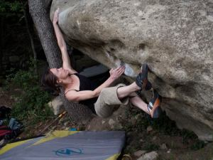 Bowling, 6c. First move hard, topout, harder.