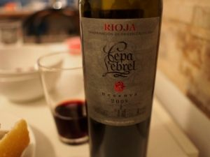 A rioja from the region.