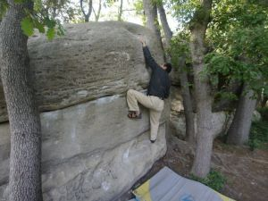 Enemic, 6b+. Solid for the grade, but the crux is all left hand sloper with OK conditions.