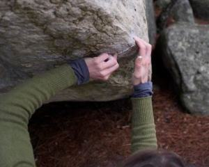 Why we love ticks... the chalk kind. Indestructible, 7a+, 95.2