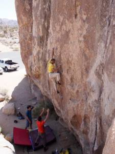 One more move before heading to the crack at left on Mr. Freeze, v5