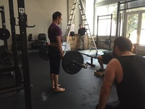 The top of the deadlift